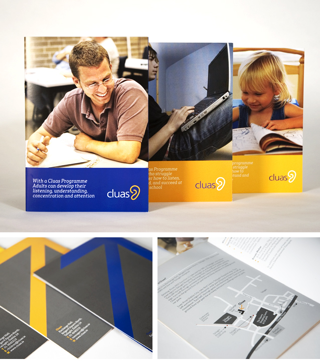 leaflet design / brochure design for Cluas