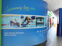 Wall graphics for National Aquatic Centre, Dublin, Ireland